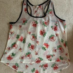 Miss Lilach Floral Sleeveless Sheer Top